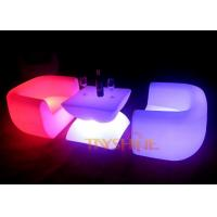 Wholesale Outdoor Plastic Illuminated LED Bar Chair LED Sofa , Wireless Remote Control from china suppliers