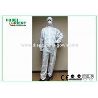 Wholesale Splash Proof Protective Disposable Coveralls Type 5 , Chemical Coverall Suit from china suppliers