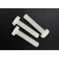 Quality M5 X 10 Beige Nylon Hex Head Screws PA 66 UL 94V-2 Flat Point For Car Industry for sale