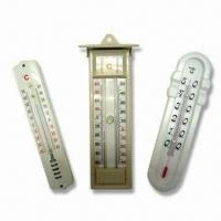 Wholesale Indoor Thermometer, Made of Wooden, Plastic or Metal Base, OEM Orders Welcome from china suppliers