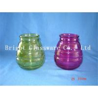 Wholesale colorful glass candle jars, candle container,  candle holder sale from china suppliers