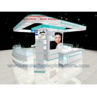 Wholesale Display Kiosk in Modern 3D design made by Glossy Counters and Center storage Cabinet from china suppliers