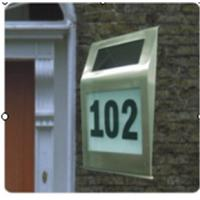 Wholesale best sell solar doorplate address light from china suppliers