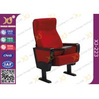 Wholesale Stain Proof Full Upholstered Red Velvet Fabric Chairs For Stadium / Lecture Room from china suppliers