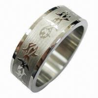 Wholesale Stainless Steel Ring, Classical Design and Exquisite Workmanship, Available in Various Colors from china suppliers