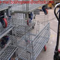 Buy cheap Industrial  Wire Mesh Container Cage/Pallet Cage/Security Cage/Storage Cage On Wheels/Metal Bin(100% factory) from wholesalers