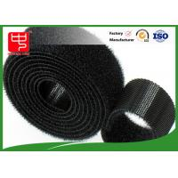 Wholesale Black hook and loop tape strong gripping power double sided hook and loop roll Water resistance from china suppliers