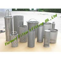 Wholesale ALSI304-316 Stainless Steel Mesh Cup / Disc Filter / Industrial Filter Cartridge And Perforated Tube from china suppliers