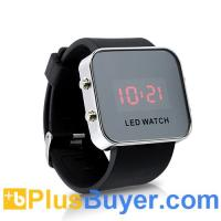 Wholesale Stylish Mirror LED Digital Watch - Red from china suppliers