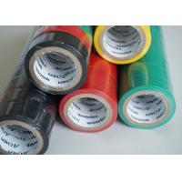 Quality Matte Surface PVC Electrical Tapes Black Rubber Adhesion , Voltage breakdown 4KV for sale