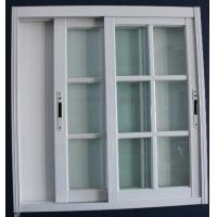 Buy cheap 1.4mm profile thickness white material fly screen aluminum sliding windows for residential from wholesalers
