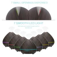 400ML Aromatherapy Essential Oil Diffuser Black Wooden Ultrasonic Cool Mist Humidifier for Office Home Yoga Spa
