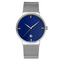 Wholesale Customiz logo fashion alloy wrist watch with S/S mesh band ,quartz movement wrist watch from china suppliers