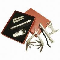 Quality 3pcs Multifunctional Tools Kit in Gift Box, Metal Flashlight, Multifunctional Pliers, Bottle Opener for sale