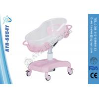 Wholesale Adjustable Trendeleburg Children Hospital Bed With Acrylic Plastic Bassinet from china suppliers