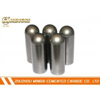 Wholesale 100% Raw Sandblasted Tungsten Carbide Buttons With Flat Top Surface from china suppliers