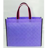 Wholesale Hot-selling Fancy Popular Foldable Non woven bag Handle Shopping bag with Lattice emboss from china suppliers