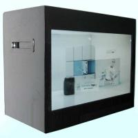 "Quality Museum 21.5"" Stand Alone HD Transparent LCD Display Box / Touch Screen Kiosk for sale"