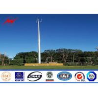 Wholesale 90 Ft Three Sections Galvanized Mono Pole Tower Round With Galvanized Stepped Bolt from china suppliers