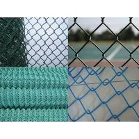 Buy cheap Green Vinyl Spraying Woven Chain Link Fence Roll Panels For House Garden Fronts from wholesalers