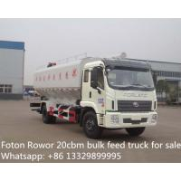 Wholesale Foton Rowor  20cbm bulk feed transportation truck for sale from china suppliers