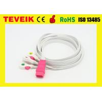 Buy cheap Disposable 5 leads ECG cable / disposable ECG leadwire  with clip,IEC,6pin for all brand from wholesalers