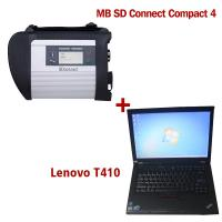 Wholesale 2018.5V Wireless MB SD C4 Mercedes Diagnostic Tool With I5 CPU 4G RAM Lenovo T410 from china suppliers