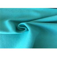 Quality 57/58 Inch Width Woven Wool Fabric Green Color OEM / ODM Acceptable for sale