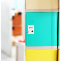 Wholesale Keyless ABS Plastic Lockers Green Door 4 Comparts 1 Column For Students from china suppliers