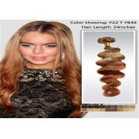 "Wholesale 10"" - 26"" Brazilian Ombre Remy Human Hair Extensions Loose Wave 1B / 27 Blonde Hair from china suppliers"
