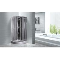 Wholesale Quadrant Shower Cubicles 900 X 900 X 2100 MM Circle Grey ABS Tray Chrome Profiles from china suppliers