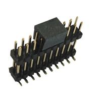 Wholesale Double Plastic Rual Row Pin Header Connector SMT PA9T Black ROHS from china suppliers