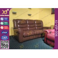 Wholesale High Density Sponge Seat Back Home Theater Sofa ,Brown  Leather Electric Recliner Chair from china suppliers