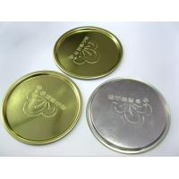 Wholesale 73mm 300# Round Tin Can Bottom Lids Silver Aluminum Tinplate 0.23mm Thickness from china suppliers