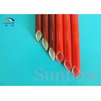 Wholesale Red Color heat resistant silicone rubber fiberglass sleeving high temperature from china suppliers