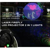 Quality Red and Green Outdoor Christmas garden laser lights with motor,remote control for sale