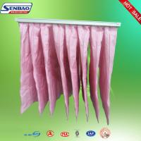 Wholesale F7 Eu7 Filtration System Synthetic Fiber Air Filters Pink Color 8 Pockets from china suppliers