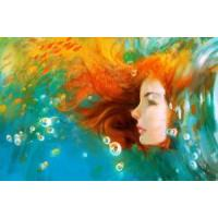 Wholesale Oil Painting-Girl Face from china suppliers