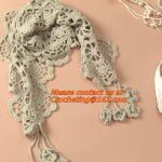 Wholesale autumn-summer, women's all-match, cutout handmade, crochet, yarn scarf,Shawls scarves Sen from china suppliers