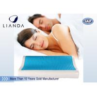 Wholesale Visco rectangle Cooling Gel Pillow , wave summer cooling gel memory pillow from china suppliers