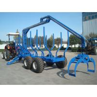 Buy cheap log trailer with crane from wholesalers