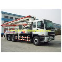 Wholesale ISUZU truck mounted concrete pump Japan chassis 37m boom with powerful engine from china suppliers