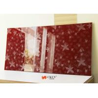 China White / Red / Black Embossed 3D MDF Board Interior Decorative Wall Panels on sale