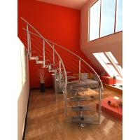 Wholesale Stainless Steel Building Curved Staircase With Satin Baluster from china suppliers