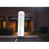 Wholesale 3m Illuminating Inflatable Cone , Decorative LED Lighting Inflatable Column from china suppliers