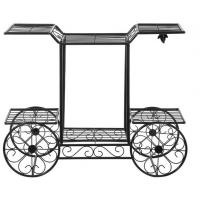 Wholesale Customized Outdoor Garden Decor Cart Design Metal Plant Pot Holder from china suppliers