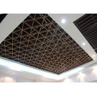 Wholesale Imitation Wood Like Metal Grid Ceiling / Various Optional Wooden Color Available from china suppliers