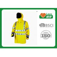 Wholesale Long Reflective Safety Rain Jacket Yellow Rain Coat For Police Working from china suppliers
