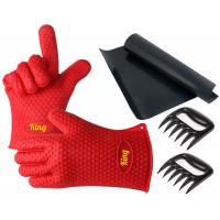 Wholesale Perfect Bear Claw Meat Claws Silicone Oven Gloves With Fingers / Durable Silicone Baking Gloves from china suppliers