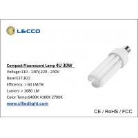 Wholesale 30W T4 Compact Fluorescent Lamps E27 , 4 Pin Cfl Light Bulb Nickle Plated AL Base from china suppliers